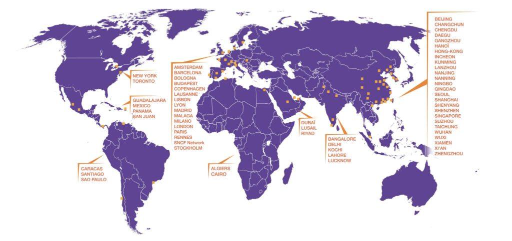 Carte des logiciels B dans le monde
